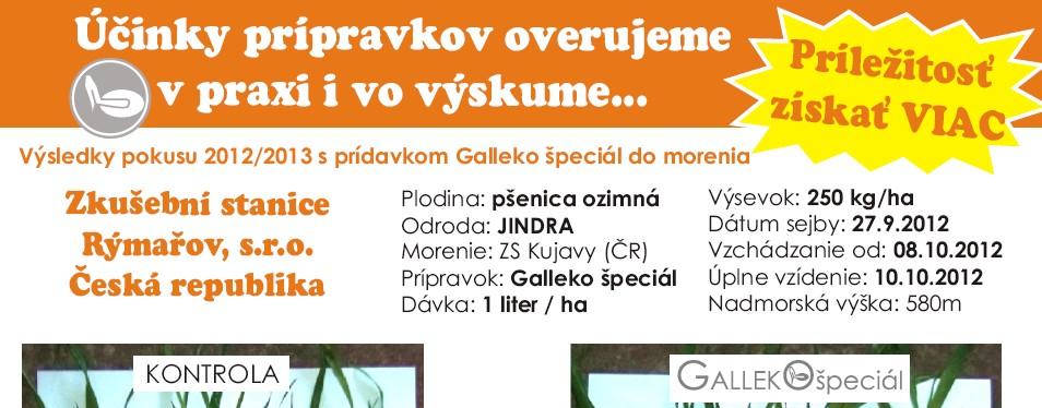 Prípravky Galleko v porastoch ozimn...